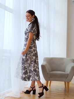 Работа с названием ♡ Платье с акцентным воротничком ♡
