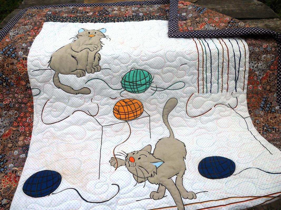 Одеяло «Жил-был убабушки серенький котик»
