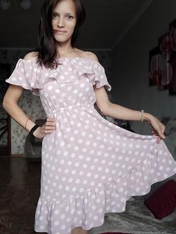 Работа с названием Летнее платье с воланом