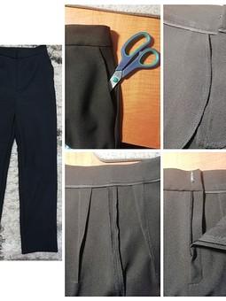 Работа с названием Простые брюки