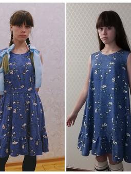 Работа с названием Платье А-силуэта