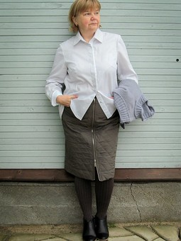 Работа с названием Рубашка со шлейфом #2 под новый жилет