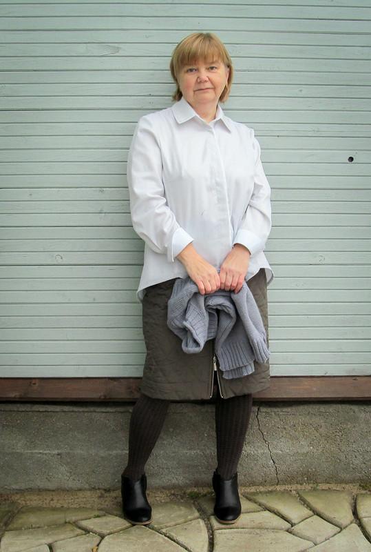 Рубашка со шлейфом #2 подновый жилет