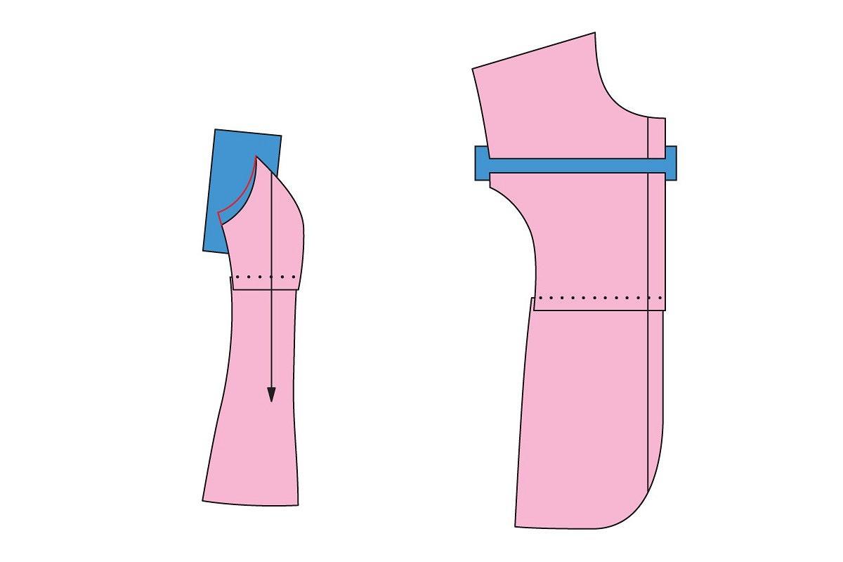 Корректировка выкройки: рельефные швы