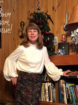 Работа с названием Новогодний комплект: юбка и блузка