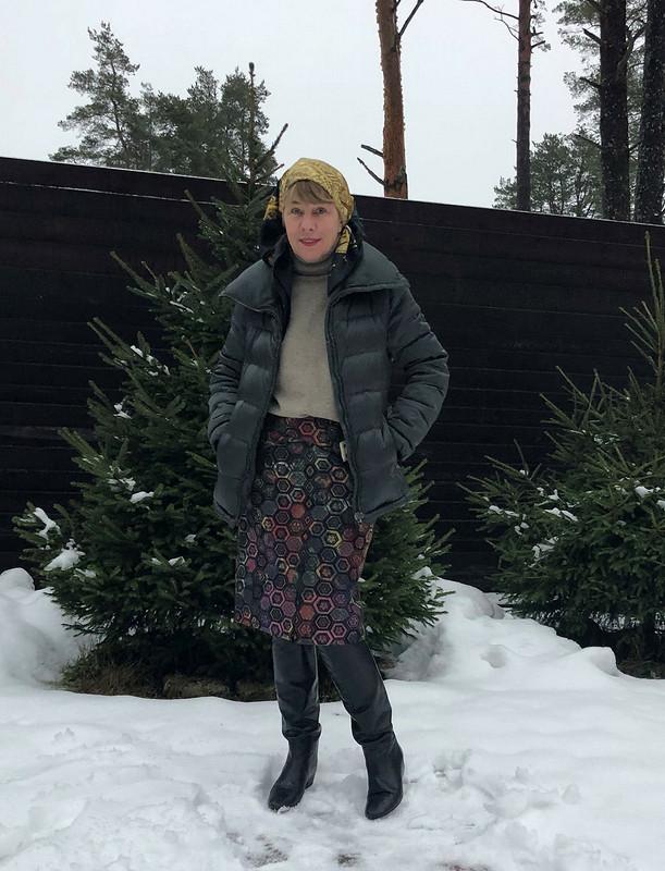 Новогодний комплект: юбка иблузка