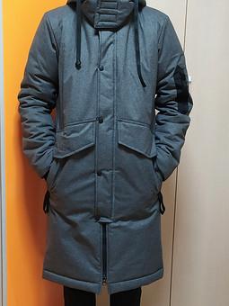 Работа с названием  Зимняя куртка-пальто для сына