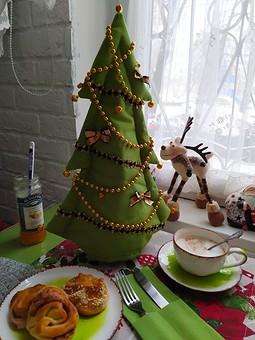 Работа с названием Ёлочка: украшение для новогоднего стола