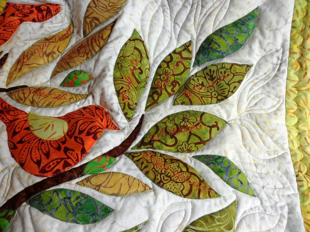 Одеяло сэлементами трапунто «Мир вашему дому»