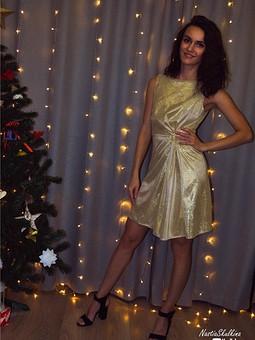 Работа с названием Блестящее платье с