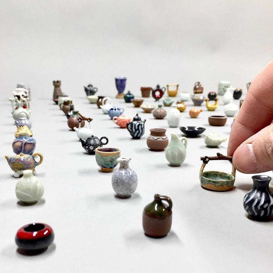 Миниатюрная керамика, созданная кончиками пальцев: рукодельный instagram недели