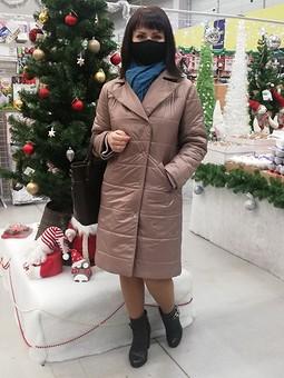 Работа с названием Стёганое пальто
