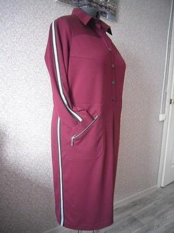 Работа с названием Платье цвета спелой вишни