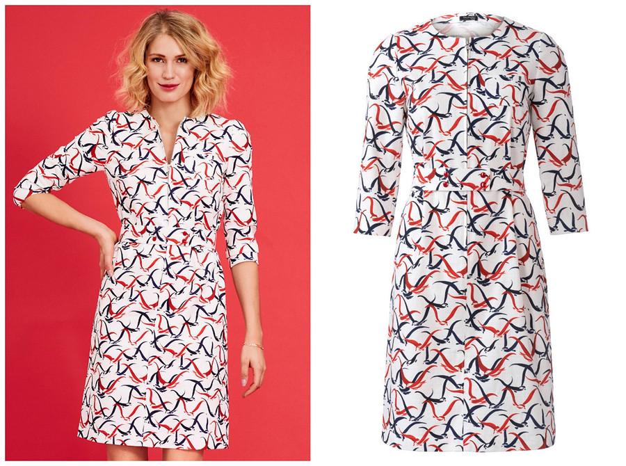 Выкройка месяца: очаровательное платье срюшами