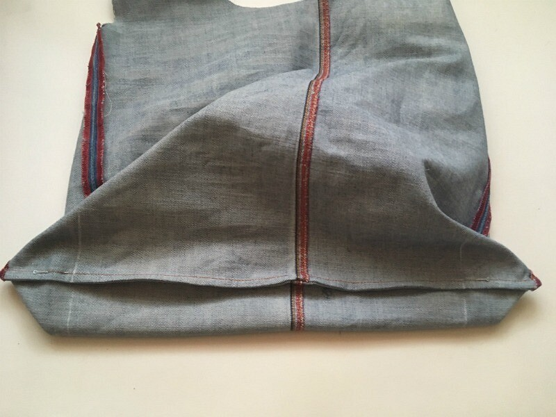 Сумка дляпокупок изстарых джинсов: мастер-класс