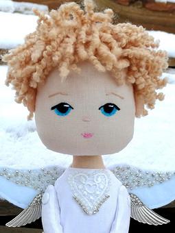 Работа с названием Интерьерная кукла Ангел-мальчик