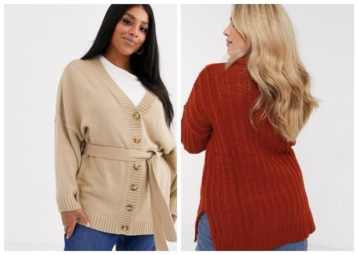 Трикотаж для«плюсиков»: как девушке сформами выбрать идеальный джемпер, пуловер или кардиган