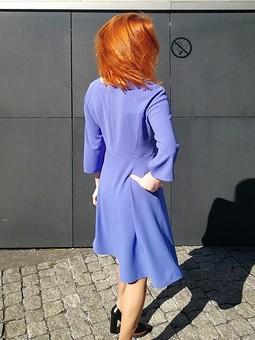 Работа с названием Платье фиолетовое, креп