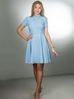 Работа с названием Голубое, девичье платье