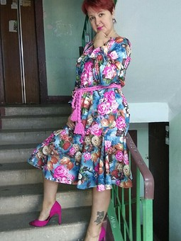 Работа с названием Этническое платье