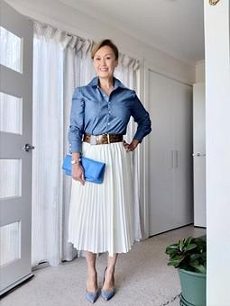 Работа с названием Блузка-рубашка под джинсу