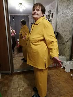 Работа с названием Брюки горчичного цвета для мамы (домашний костюм)