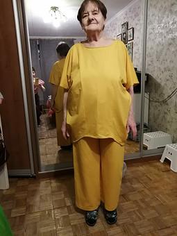 Работа с названием Блузка горчичного цвета для мамы (домашний костюм)