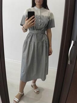 Работа с названием Рубашка превращается в платье