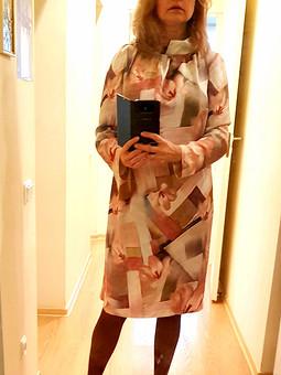Работа с названием Платье прямого покроя