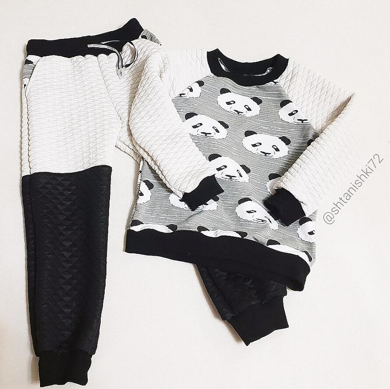 Теплый костюм спандами: пуловер ибрюки