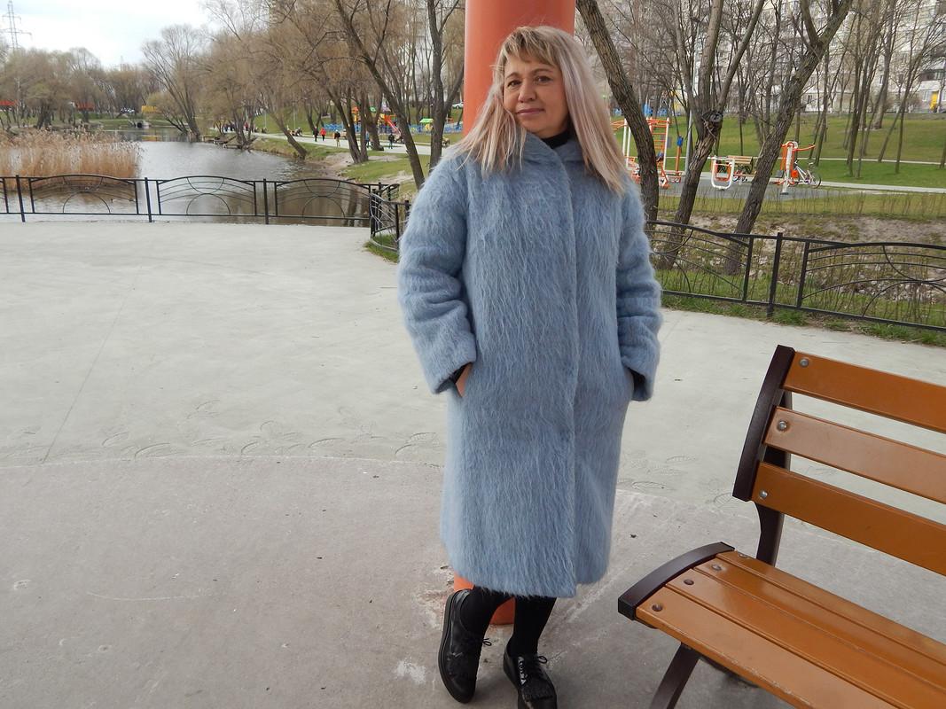 Голубое пальто от musya