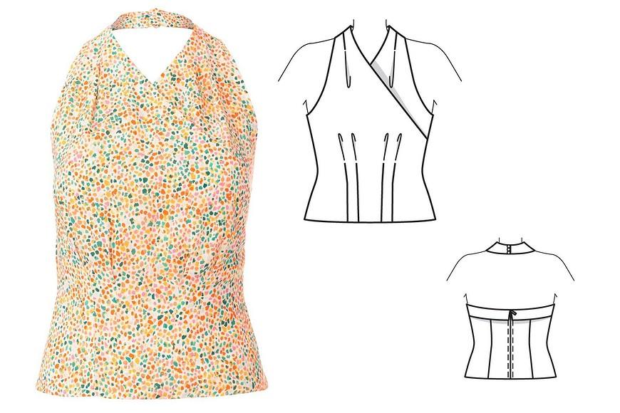 Технические рисунки Burda Style 4/2020