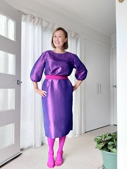 Работа с названием Платье из тафты