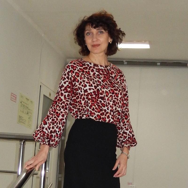 Блузка «Красный лео» от julia.golubkova