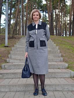 Работа с названием Костюм: жакет и юбка