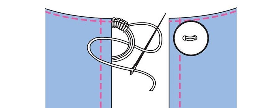 Азы шитья: обработка разреза подзастежку вшве спинки