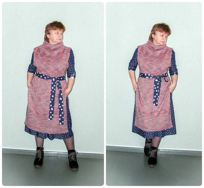 Платье-жилет...спицами...