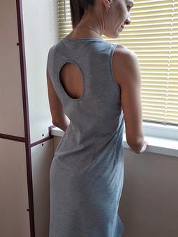 Работа с названием Домашнее платье-майка