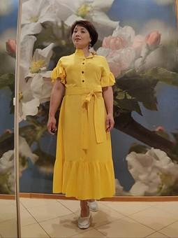 Работа с названием Креативное карантинное платье