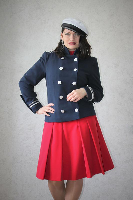 Жакет-мундир иплатье military