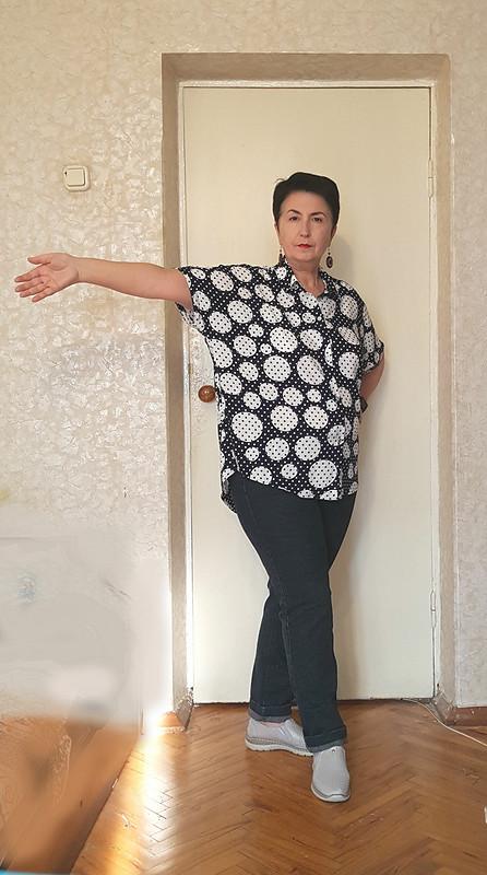 Рубашка бохо-размахайка