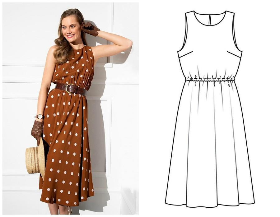 Выкройка месяца: платье длясамой обаятельной ипривлекательной