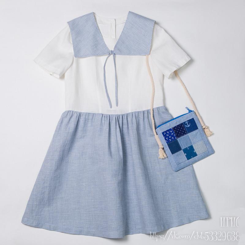 Морское платье от Irinka