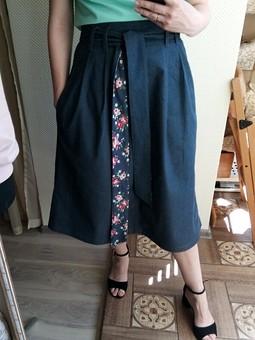 Работа с названием Джинсовая юбка