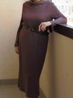 Работа с названием Теплое, уютное платье