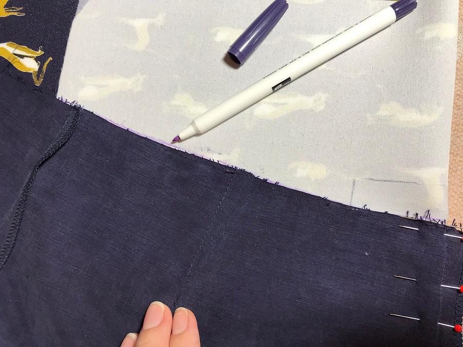 Как выкроить обтачку дляобработки верхнего среза поясного изделия