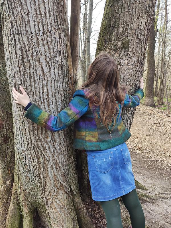 Дракон веcеннего леса иджинсовая юбка от _Lelik