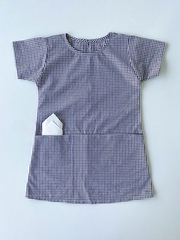 Работа с названием Платье для девочки из мужской рубашки