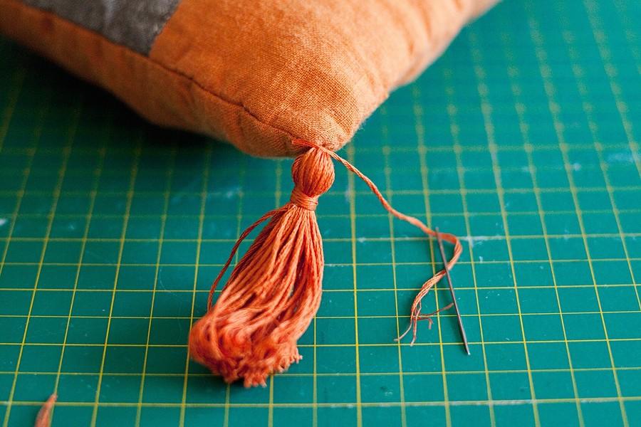 Лоскутная подушка встиле бохо: мастер-класс