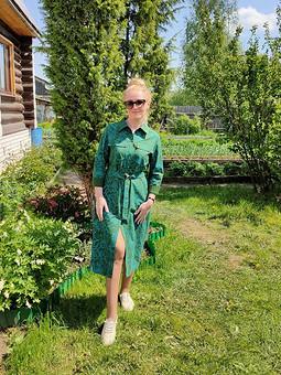 Работа с названием Платье рубашечного покроя
